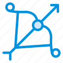 archery, arrow, arrows, bow, equipment, goal, target icon