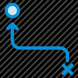 arrow, cursor, direction, location, move, navigation, way icon