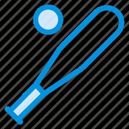 ball, baseball, bat, cricket, game, sport, training icon