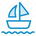 boat, sailing, sea, ship, transport, waterways, yatch icon