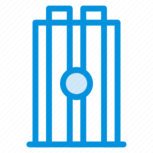 cricket, game, match, play, sport, wicket, wicketbails icon