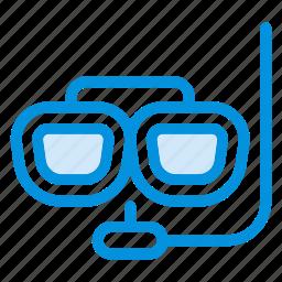 divers, eyeglasses, glasses, spectacles, sports, swim, underwater icon