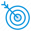 archery, arrow, focus, goal, location, position, target icon