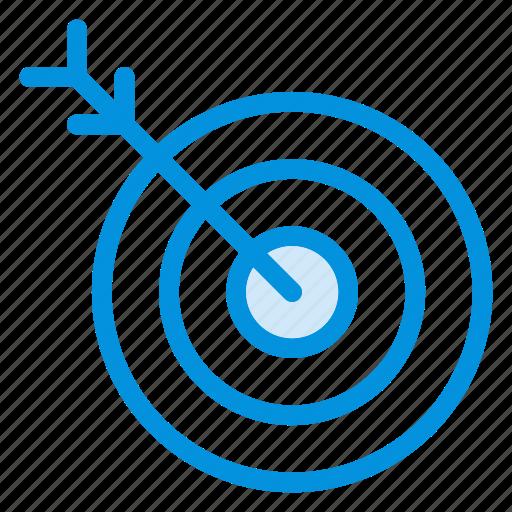 archery, arrow, focus, goal, location, position, target icon