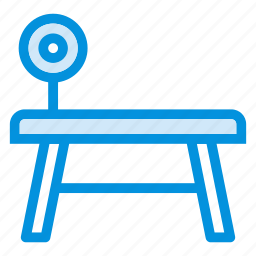 desk, exercise, fitness, furniture, gym, table, workout icon