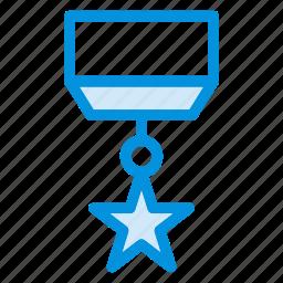 awards, badge, gold, medal, prize, sport, star icon