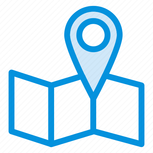 direction, gps, location, map, pin, track, travel icon