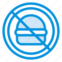 burger, cafe, eating, food, restaurant, sign, warning icon