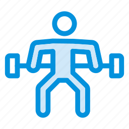 avatar, body, dumbbell, fitness, gym, lifter, weight icon