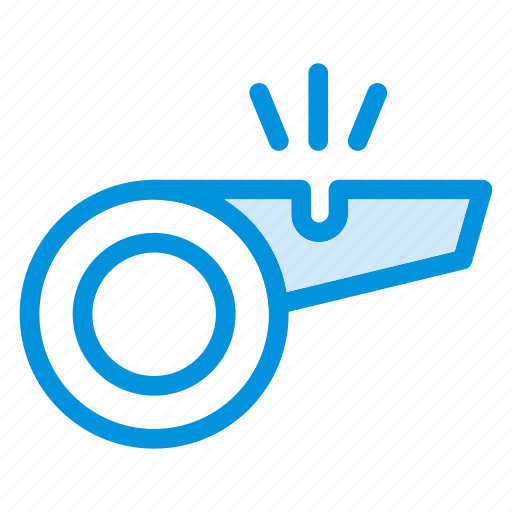 coachwhistle, instrument, play, referee, sound, sport, whistle icon