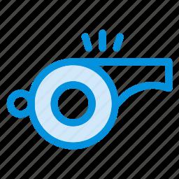coachwhistle, game, instruction, play, sound, sport, whistle icon