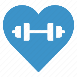 athlete, athletics, fitness, gym, heart, sport, weight icon