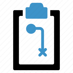 checked, clipboard, content, documents, form, forward, notepad icon