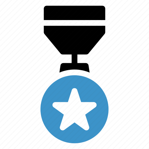 awards, badge, gold, medal, prize, sports, star icon
