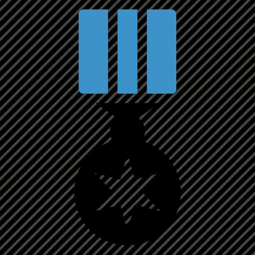gold, medal, prize, reward, sport, star, win icon