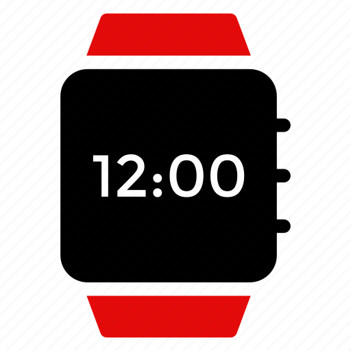 alarm, applewatch, device, digital, time, view, watch icon
