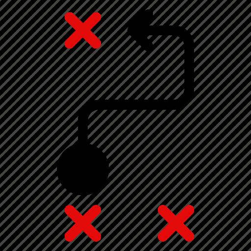 arrow, cursor, direction, location, map, navigation, track icon