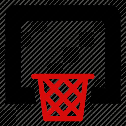 basket, basketball, box, bucket, football, net, sports icon