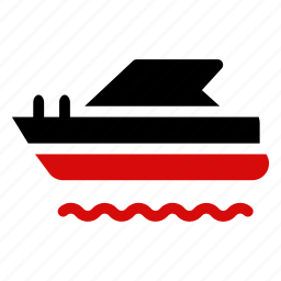 boat, sea, ship, transport, travel, vehicle, water icon