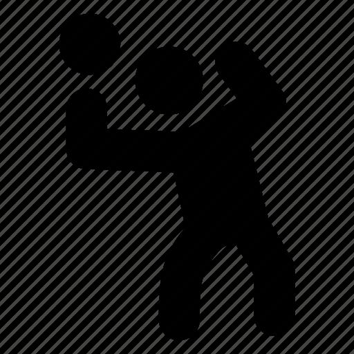 athlete, ball, baller, game, play, player, sportsman icon