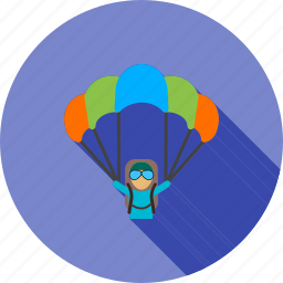 chute, glider, jumping, parachute, paragliding, sky, sports icon