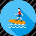 activity, sport, surf, surf board, surfer, surfing board, water
