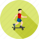 board, skateboard, skateboarder, skating, sports, wheels icon