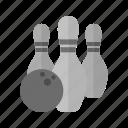 ball, bowl, bowling, pins, play, sport, throw