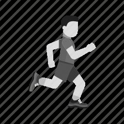 game, match, race, run, runner, running, sports icon