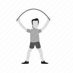 exercise, fitness, jump, jumping, lifestyle, rope, skip icon