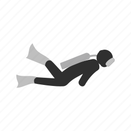 diver, diving, scuba, scuba diver, sports, underwater, water icon