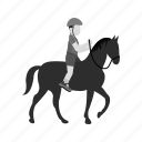 activities, horse rider, jockey, pony, race, riding, sports icon