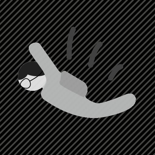 activity, chute, jump, parachute, skydiver, skydiving, sports icon