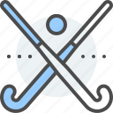 ball, field, hockey, match, sport, stick, team icon