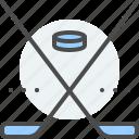 ball, field, ice hockey, match, sport, stick, team icon