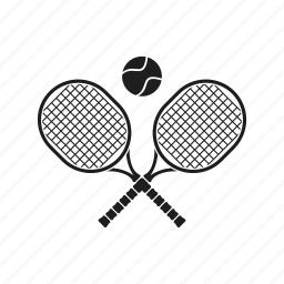 badminton, ball, emblem, racquetball, sport, tennis icon