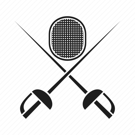 emblem, epee, rapier, saber, sport, tournament, weapon icon