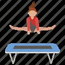 gymnast, gymnastics, jump, splits, trampoline icon