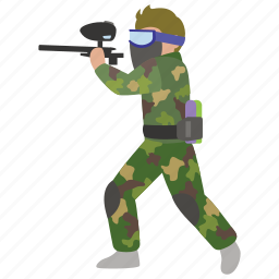 gun, marker, paint, paintball, professional, rifle, speedball icon