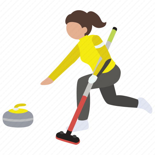 broom, curling, ice, sport, winter, womens icon