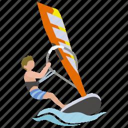 sailing, surf, surfer, watersport, wind, windsurfer, windsurfing icon