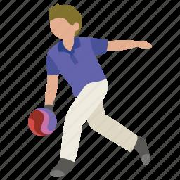 alley, bowling, bowls, strike, ten pin icon