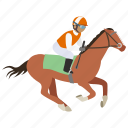 equestrian, horse, horse riding, jockey, race, rider, riding icon
