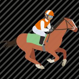 equestrian, horse, horse riding, jockey, race, rider, riding icon