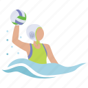 polo, spike, sport, water, water polo icon
