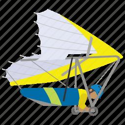 glide, glider, gliding, hang, recreation, thrill icon
