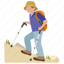 climbing, exercise, hike, hiker, hiking, mountain icon
