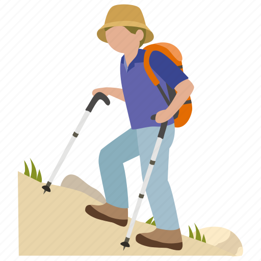 climbing, exercise, hike, hiker, hiking, mountain icon