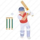 batsman, batter, cricket, cricketer, one day, test match icon