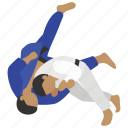 arts, body, judo, martial, sparring, throw, wrestling icon